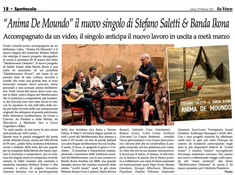 LA VOCE banda icona Stefano saletti